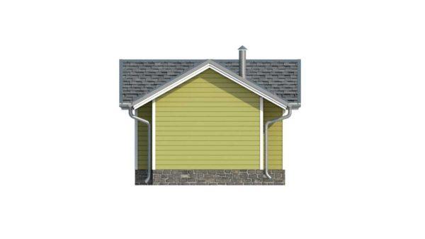 Фасад тёплого дома Сильви из двойного минибруса 3