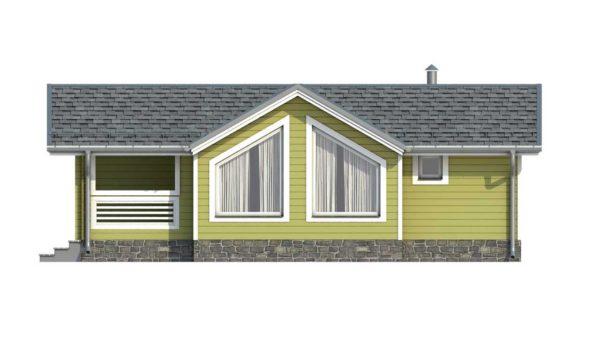 Фасад тёплого дома Сильви из двойного минибруса