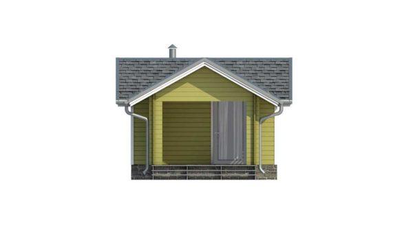 Фасад тёплого дома Сильви из двойного минибруса 2