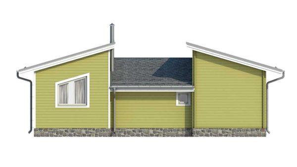 Фасад тёплого дома Хлоя из двойного минибруса