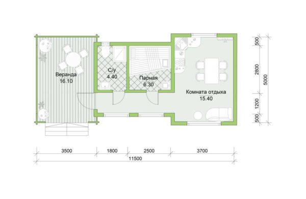 Планировка дома Хлоя из двойного минибруса