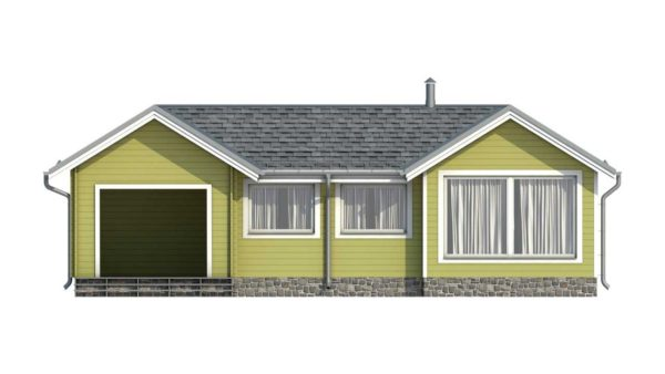 Фасад тёплого дома Тереза из двойного минибруса