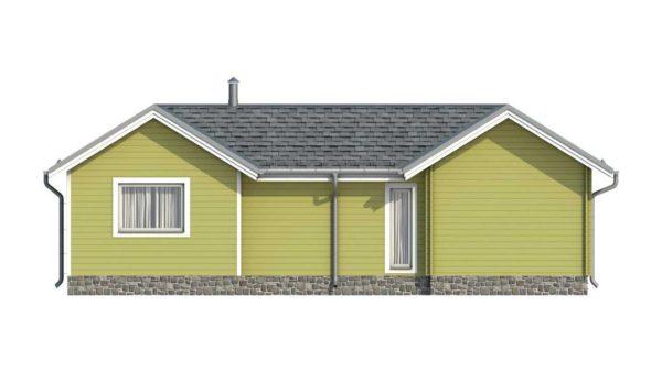 Фасад тёплого дома Тереза из двойного минибруса цена