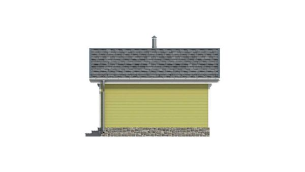 Фасад тёплого дома Тереза из двойного минибруса купить