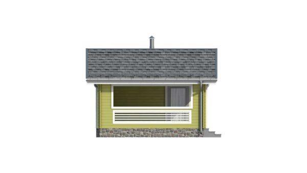 Фасад тёплого дома Тереза из двойного минибруса фото