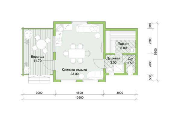 Планировка дома Лея из двойного минибруса