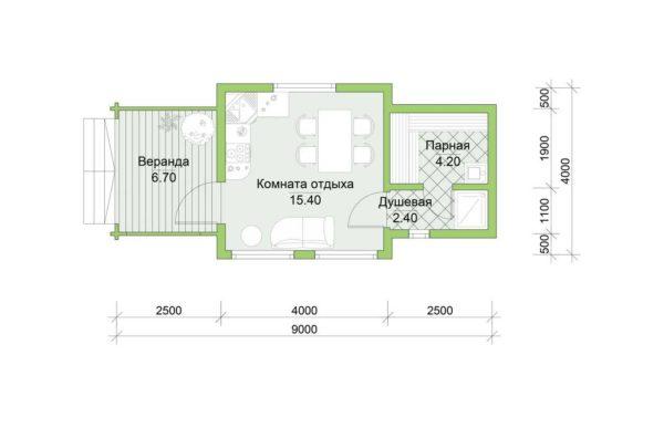 Планировка дома Сильви из двойного минибруса
